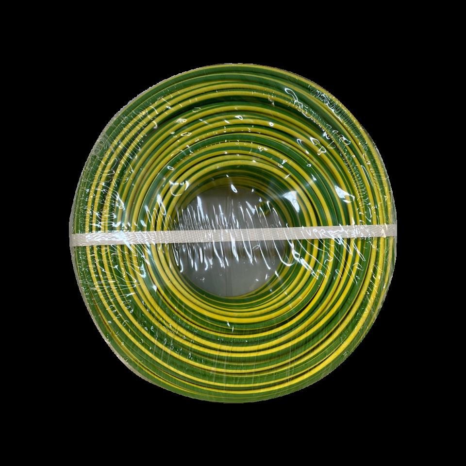 1 × 6,0 mm² H07V-K Grün/Gelb – 100 Meter